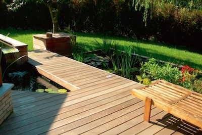 Terras in Europees hout