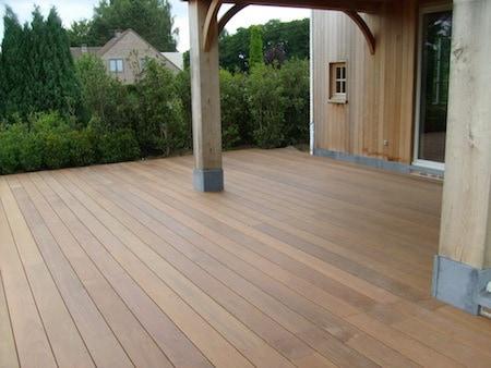 Goedkope houten terrasvloer
