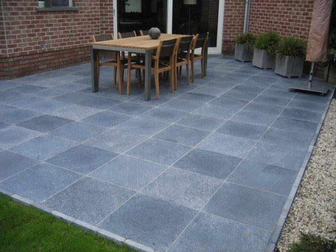 Blauwe steen voordelen prijs terras aanleggen - Afbeeldingen van terrassen verwachten ...