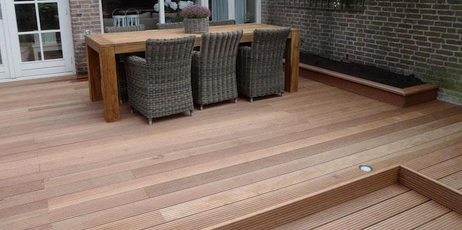Terrasplanken prijs soorten onderhoud aanleggen - Zwembad terras hout photo ...