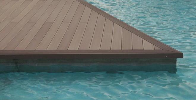 Composiet hout terrasplanken rond zwembad