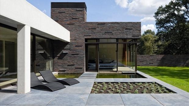 Gepolierd terras in beton